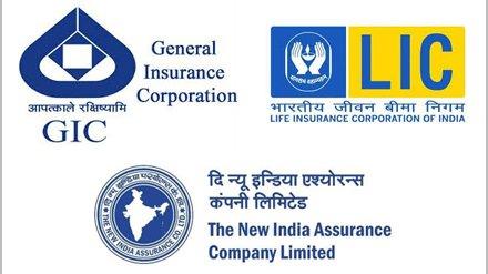 LIC, GIC and New India