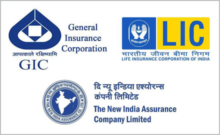 LIC, GIC and New India